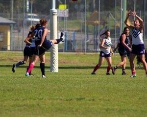 newcastle chiropractor kicks goals